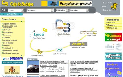 Caja Badajoz: Web antigua