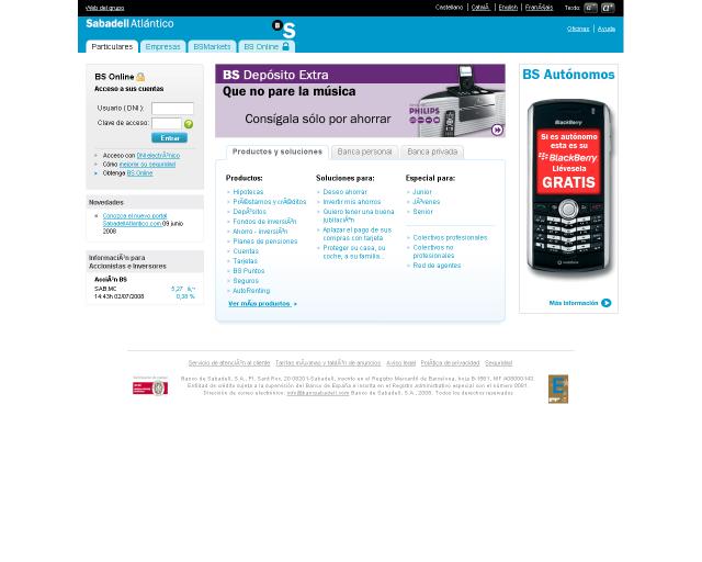 Banco sabadell atl ntico ya prueba la nueva web blogahorro for Sabadellatlantico oficinas
