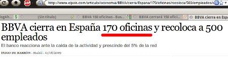 En el título 170 oficinas.