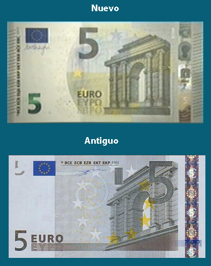 Comparación del nuevo y viejo billete