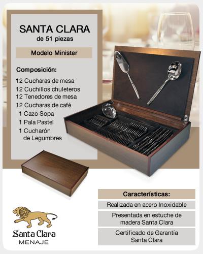 Cubertería Santa Clara modelo Minister