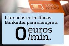 Bankinter Móvil - Llamadas a 0 céntimos el minuto entre clientes.