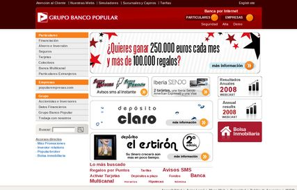 Banco Popular - Web Vieja