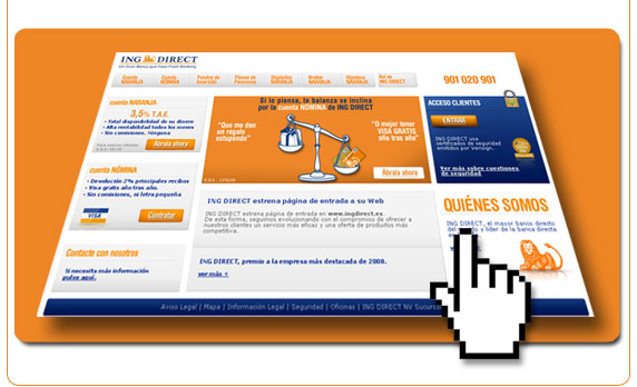 Nueva web de ING Direct