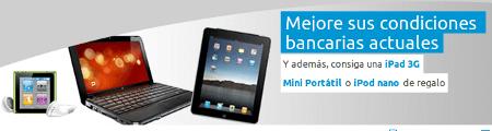 Banner de la oferta de Oficinadirecta ofreciendo el iPad, netbook o iPod.
