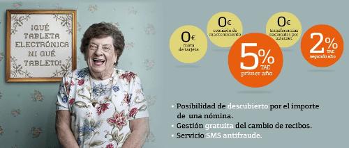 Cartel del anuncio de Cuenta Nómina de Bankinter
