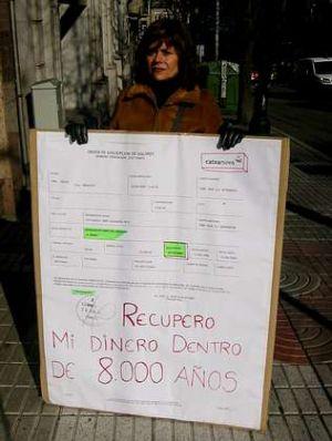 María Belén Boo en una protesta