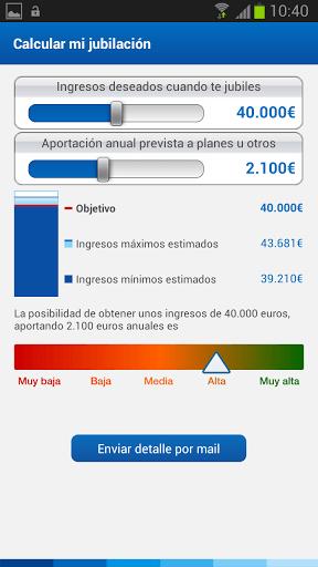 BBVA App Planes de pensiones