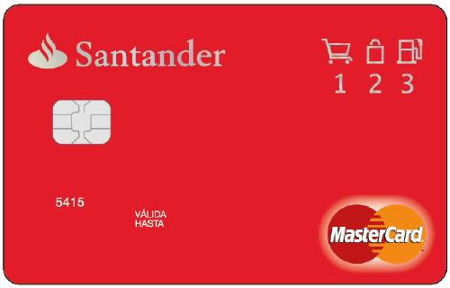 Tarjeta 1 2 3 Banco Santander