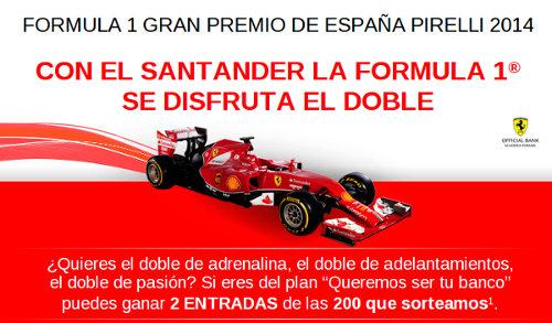 Sorteo de entradas GP 2014 de Banco Santander