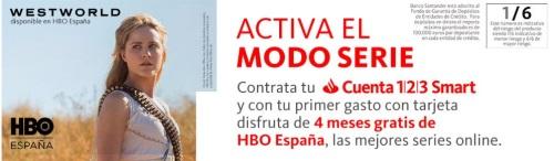 4 meses HBO Gratis Cuenta Smart 123 Banco Santander